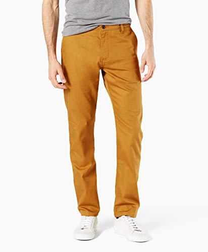 (Dockers Men's Slim Fit Original Khaki All Seasons Tech Pants D1, Golden Brown, 34W x 34L)