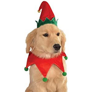 Rubie's Christmas Pet Costume, Small to Medium, Elf Hat with Bell