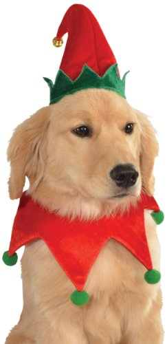 Rubie's Christmas Pet Costume, Small to Medium, Elf Hat with (Elf Costume Christmas)