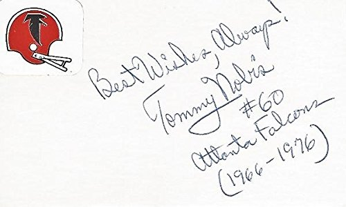 Atlanta Falcons Hall Of Fame - Tommy Nobis Signed - Autographed Atlanta Falcons 3x5 inch Index Card - Guaranteed to pass or JSA - College Hall of Fame - PSA/DNA Certified