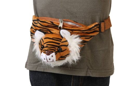 Tiger Gürteltasche Gürtel Tasche Hüftbeutel braun brauner Hüft Beutel Kindertasche Tasche Tigertasche Tigerbeutel Tigerhüftbeutel Kind für Kinder Kinderbeutel