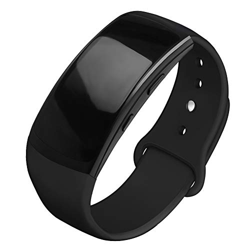 OenFoto Sports Band Compatible Gear Fit2 Pro/ Fit2, Replacement Silicone Accessories Strap Samsung Gear Fit2 Pro SM-R365/ Gear Fit2 SM-R360 Smartwatch- Black