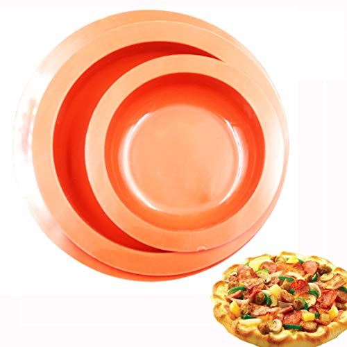 BAKER DEPOT Silicone Mold For Pizza Pan Bakeware Round Cake Pans non stick 6.5 inch 8 inch 9 inch set of - Pizza Pan Silicon