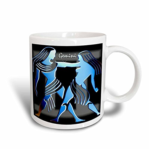 3dRose Gemini Zodiac Sign Mug, 11-Ounce