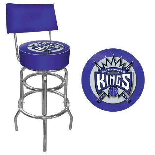 NBA Sacramento Kings Padded Swivel Bar Stool with Back by Trademark Gameroom