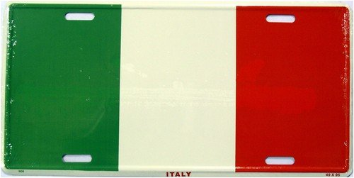529 Italy Flag License Plate 908 LP