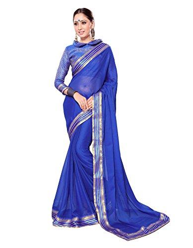 Royal Blue Saree - 5