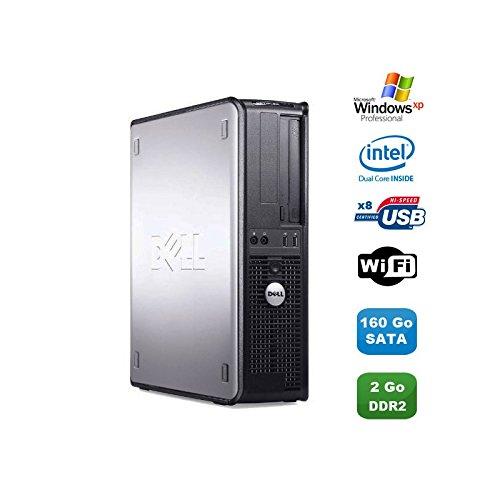 Dell PC Optiplex 360 DT Intel Dual Core E5200 2.5GHz 2Go DDR2 WiFi 160Go XP Pro