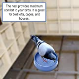 Plastic Bird Nest for Pigeons, Quails, and Small