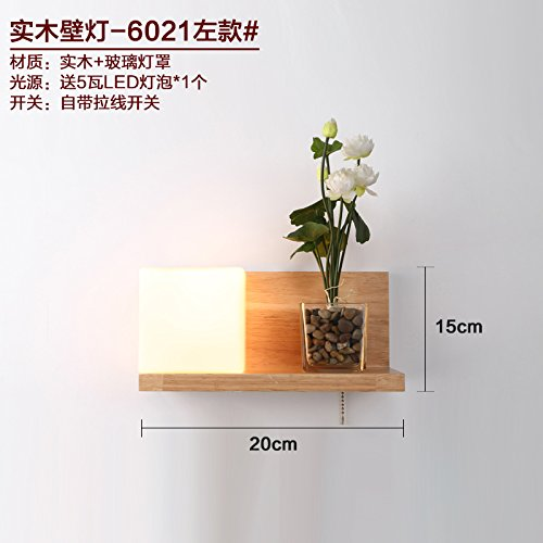 RLYYBE1 DIY Wall Light Creative Modern Rustic Industrial Vintage And Simple Led Crystal Walls Bedroom Living Room Outdoor Decorative Lamp Sconce Lighting Led solid wood ,6021 left