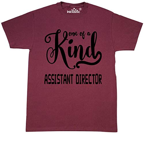 inktastic - Gift for Assistant Director| One of a T-Shirt Medium Maroon 26076 ()