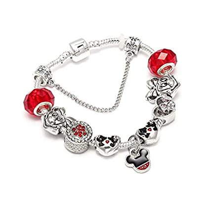 bcd3aa0a0 Image Unavailable. Image not available for. Color: Aggenix Store Bracelet  Charm Bracelets & Bangles Women Jewelry Pink Bow-Knot Pendant Pandora  Bracelet