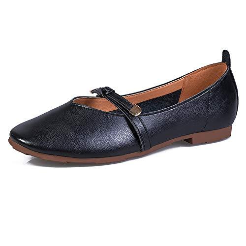 Meeshine Women's Comfortable Ballet Flats Pumps Bowknot Slip On Dress Shoes(8 B(M) US,Black 001)