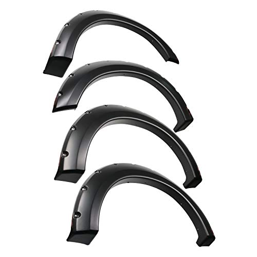 Tyger Auto TG-FF8F4018 for 2004-2008 Ford F150 (ONLY Fit Styleside Models) 2006-2008 Lincoln Mark LT | Paintable Smooth Matte Black Pocket Bolt-Riveted Style Fender Flare Set, 4 Piece