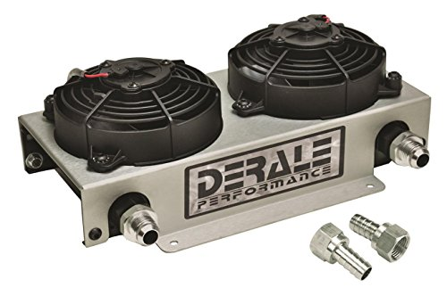 Racing Cooler Kit Oil - Derale 15845 Hyper Dual-Cool Remote Cooler