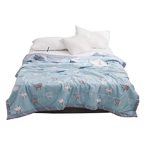 Amazon Com Naturety 100 Cotton Bed Quilt Thin Comforter