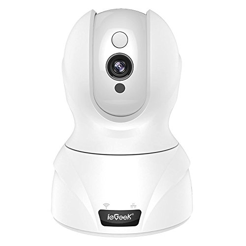 ieGeek Wireless Security Wifi IP Camera Surveillance 720P HD with 2-Way Audio, Pan Tilt 8x Zoom, Night Vision, Intelligent Motion Alarm, Support Remotely View and Control via Smart phone/Tablet/PC (Ptz Cam Network)