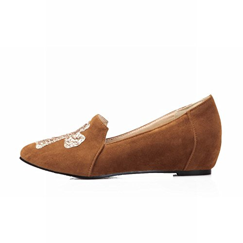 Carol Chaussures Casual Femmes Paillettes Brillante Croix Motif Mode Caché Talon Appartements Chaussures Jaune