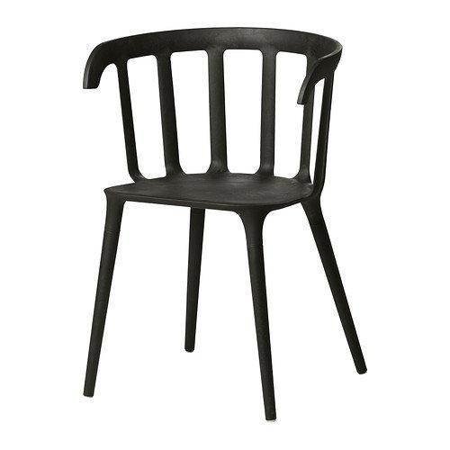 IKEA(イケア) IKEA PS 2012 ブラック 40206805 チェア アームレスト付き、ブラック B00C65CP1E