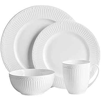 Mikasa Italian Countryside Bone China 48 Piece Dinnerware Set Service for 12  sc 1 st  Amazon.com : bone china dinnerware - pezcame.com