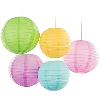 Bobee Pastel Paper Lantern Decorations, Assorted Sizes ...