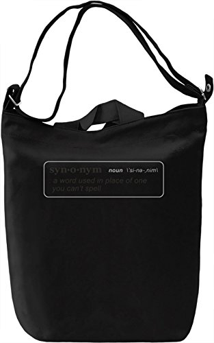 Syn O Nym Borsa Giornaliera Canvas Canvas Day Bag| 100% Premium Cotton Canvas| DTG Printing|
