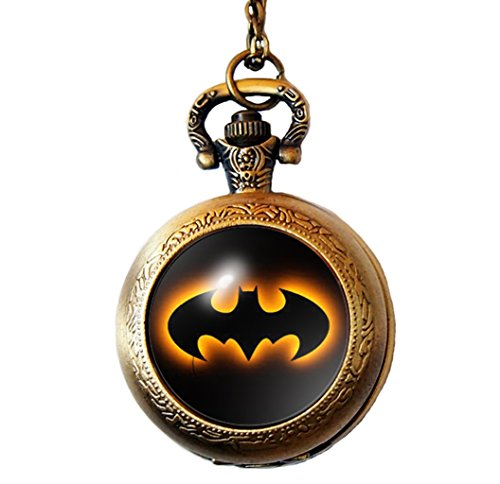 Dome Inspired (Joyplancraft Dark Knight Inspired Charm Necklace Super Hero Batman Dome with Alloy Chain Pocket Watch (Style 5))