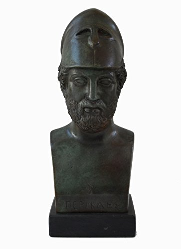 Pericles Bust with bronze color effect - Ancient Greece Athens Golden Age General
