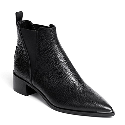 Autunno Scarpe uk 8 Boots In Nvxie Pelle Appartamenti 1 5 Martin 42 Punta Lavoro Genuino Partito Eur Donna Cuoio eur42uk85 Inverno 5wxTaxYv