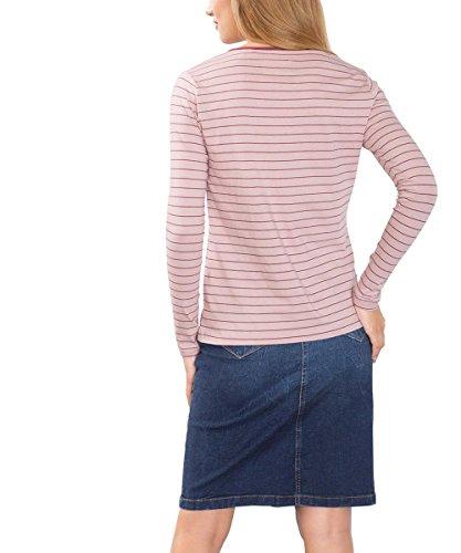 edc by Esprit 096Cc1K059, Camiseta de Manga Larga Para Mujer Rosa (Old Pink 680)