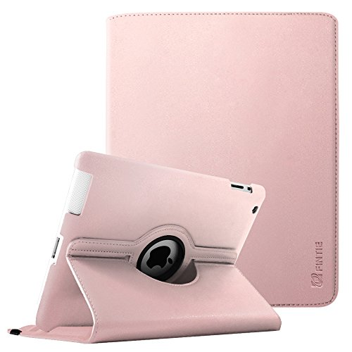 Fintie iPad 2/3/4 Case - 360 Degree Rotating Stand Smart Case Cover for Apple iPad with Retina Display (iPad 4th Generation), iPad 3 & iPad 2 (Automatic Wake/Sleep Feature) - Rose Gold