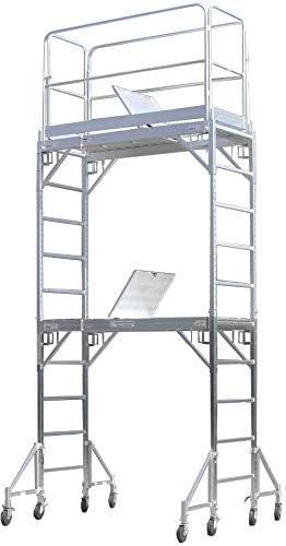 CBM Scaffold Aluminum Scaffold Rolling Tower with Hatch Deck U Locks