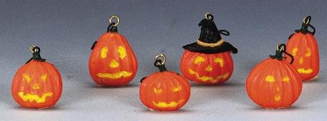 Lemax Spooky Town Halloween Tree Decoration Jack-o-lanterns Set of 6# 42843 (Spooky Decorations For Halloween)