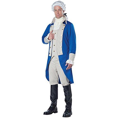 California Costumes Men's George Washington Costume, Blue/Tan, Large