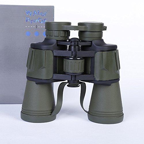 PLLP 20X50 Binoculars Lightweight Portable Telescope Travel Outdoor Telescope Hd,ArmyGreen