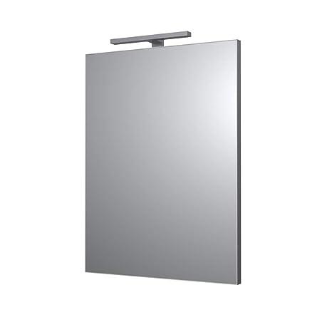 Accessori Bagno Design Minimale.Ve Ca Italy Specchi Per Arredo Bagno E Casa Design Minimale Con Luce Plafoniera Led 80x60 Cm Luce Plafoniera Led 30 Cm