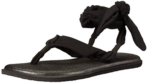 Sanuk Frauen Yoga Slinged Up Gladiator Sandale Schwarz