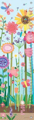 Oopsy Daisy Growing Flowers by Jill McDonald Growth Charts, 12 by 42-Inch by Oopsy Daisy