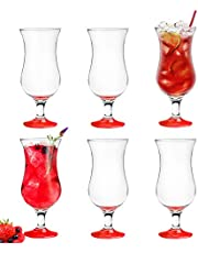 Platinux Cocktailglazen 500 ml uit glas set (6-delig) longdrinkglazen partyglazen milkshake glas