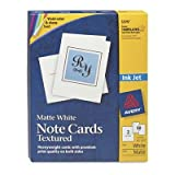 Avery - 2 Pack - Textured Note Cards Inkjet 4-1/4 X 5-1/2 Matte White 50/Bx W/Envelopes ''Product Category: Paper & Printable Media/Cards & Card Stock''