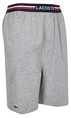 Lacoste- Cotton Stretch Knit Shorts Light Gray Heather Size Medium