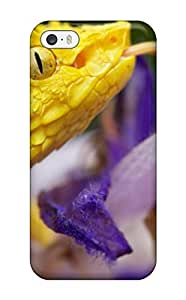 Cute Appearance Cover/CjPVxoW1809UxhtI Yellow Snake On Flowers Case For Iphone 5/5s