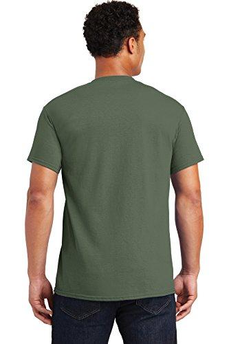 Gildan mens Ultra Cotton 6 oz. T-Shirt(G200)-MILITARY GREEN-L-10PK