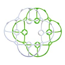 Cheerson Cx-10 2 PCS Propeller Prop Blade Guard Cover Bumper Protection Protector (Green White)
