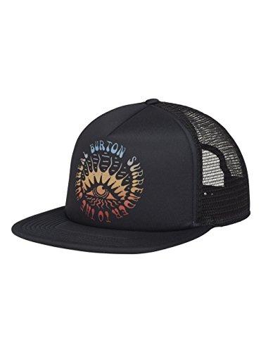 Burton Black Hat - Burton I-80 Trucker Hat, True Black, One Size