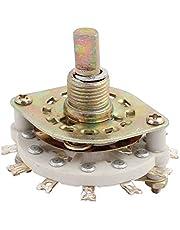 New Lon0167 KCZ3*3 3 Pole 3 Position 6mm Dia Shaft 12 Terminal Band Channael Rotary Switch(KCZ3 * 3 3 Pole 3 Position 6mm Durchmesser 12 Klemmband Channel Channael Drehschalter
