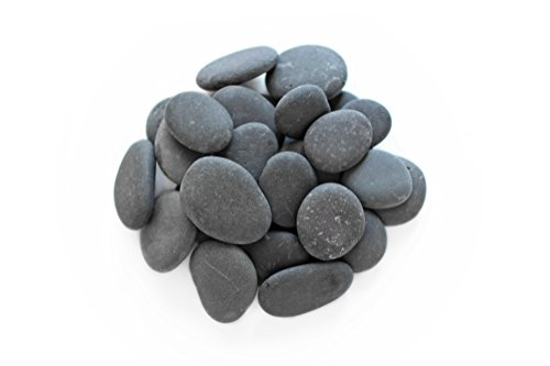 Royal Ram Mexican Beach Pebbles - 2 Pounds Medium Size 1/2'' - 1'' - Decorative, Landscaping, Vase Filler, Aquarium Safe by Royal Ram