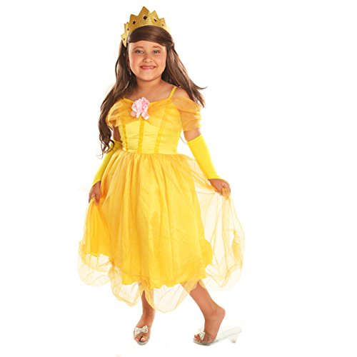 Disiao Belle Ball Gown Costume Role Play Costume Set Halloween Suits Cosplay for Girl (S)
