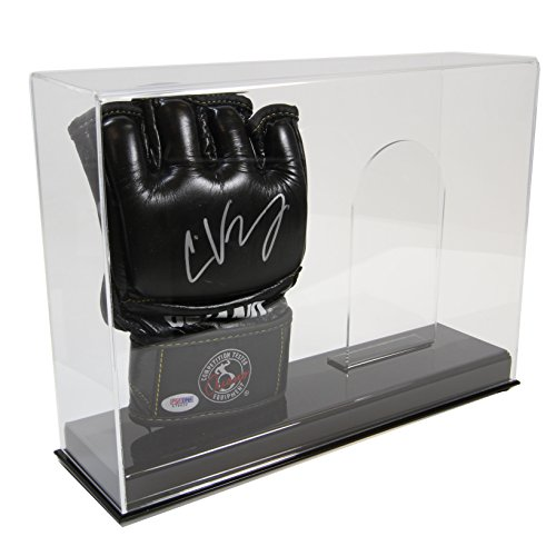 Double Boxing Glove - New Double UFC MMA Fight Glove CLEAR Display Case with Stands