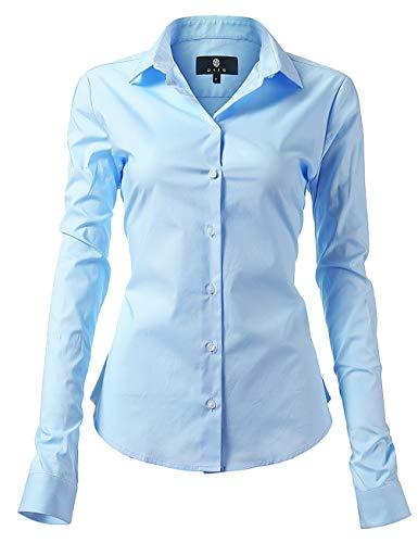 light blue button blouse - 5